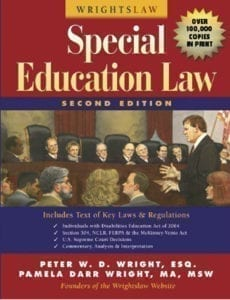 Special Education Law Wrightslaw Book
